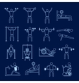 Workout training icons set outline vector