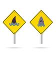 Shark yellow sign vector