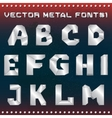 Steampunk metal alphabet for design vector