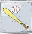 Baseball sports theme vector