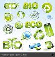 Icon set eco and bio vector