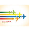 Colourful planes vector