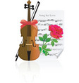 Violin with rose vector
