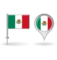 Mexican pin icon and map pointer flag vector