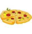 Cartoon food pizza vector