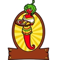 Girl hot pepper vector