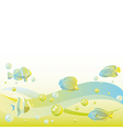 Abstract dreamy water background vector