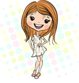Cute smiling fashion baby girl vector