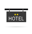 Hotel signboard with two star vector