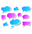 Peeling speech bubbles vector