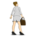 Business woman look up something vector