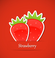 Berry label strawberry vector