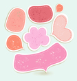 Bright bubbles of different forms vector