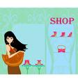 Fashion girl shopping vector