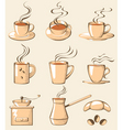 Coffee line art vector