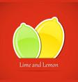 Fruit label lemon vector
