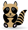 Funny raccoon on white background vector