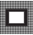 Houndtooths fabric pattern with lable vector