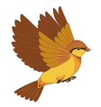 Flying bird cartoon isolated on a white background vector