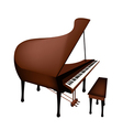 A retro grand piano isolated on white background vector