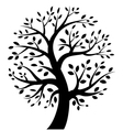 Stylized tree icon vector