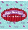 New year and christmas greeting card with a sock vector