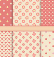 Set of seamless romantic patterns tiling - pink vector