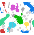 Color splash paint seamless vector