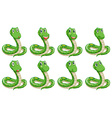 Different snake expressions vector