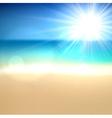 Tropical sunny summer coast vector