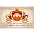 Royal carriage vector