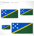 Solomon islands flag template vector