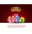 Colorful gift box with bows vector