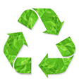 Green crushed paper recycle sign vector