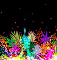 Colourful floral background vector