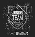 Emblem baseball junior college team vector
