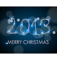 2013 from digital electronic blue lights vector