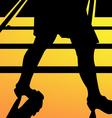 Leg walking woman silhouette vector