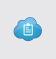 Blue cloud list icon vector