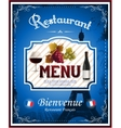 Vintage french restaurant menu and poster design vector