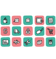 Doodle icon set  shopping vector