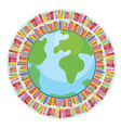 Globe and book education concept vector