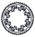 Round openwork lace border realistic vector