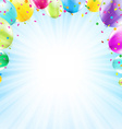 Birthday card design template balloon vector