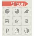 Economic icons set vector