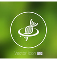Dna icon life strand symbol curve graphic genetic vector