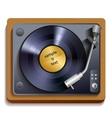 Vinyl record player print vector