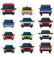 Set of tinted vehicles vector