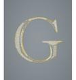 Abstract golden letter g vector