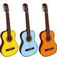 Classic guitars vector